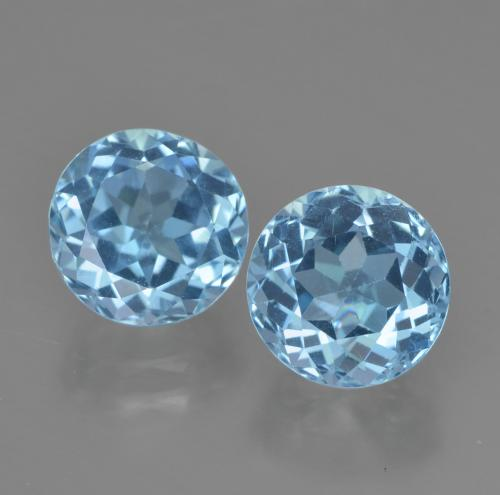 Swiss Blue Topaz Gem - 2.4ct Round Facet (ID: 454871)