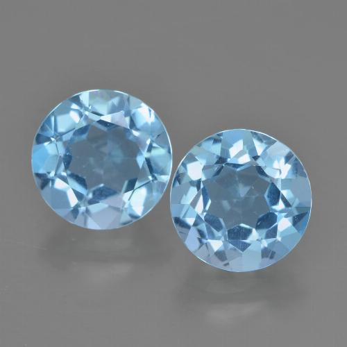 Sky Blue Topaz Gem - 2.3ct Round Facet (ID: 454872)