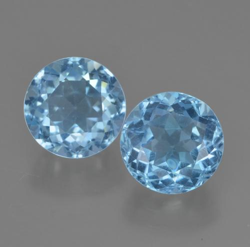 Sky Blue Topaz Gem - 2.5ct Round Facet (ID: 454873)
