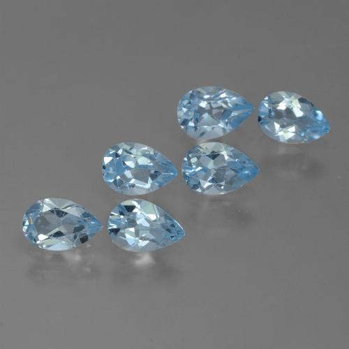 Sky Blue Topaz Gem - 0.5ct Pear Facet (ID: 454877)
