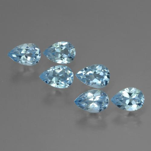 Sky Blue Topaz Gem - 0.6ct Pear Facet (ID: 454878)