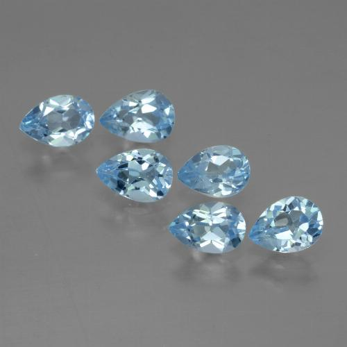 Sky Blue Topaz Gem - 0.5ct Pear Facet (ID: 454882)