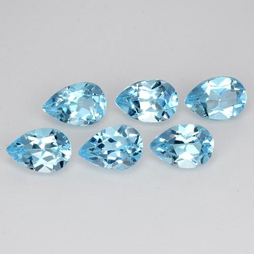 Sky Blue Topaz Gem - 0.5ct Pear Facet (ID: 454885)