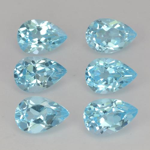 Sky Blue Topaz Gem - 0.6ct Pear Facet (ID: 454886)