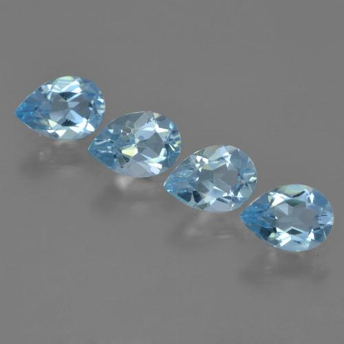 Swiss Blue Topaz Gem - 0.7ct Pear Facet (ID: 454914)