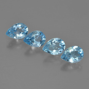 Sky Blue Topaz Gem - 0.9ct Pear Facet (ID: 454917)