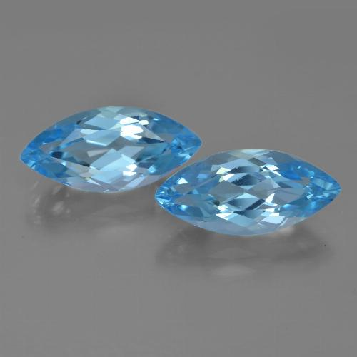 3.8ct Marquise Facet Sky Blue Topaz Gem (ID: 454935)