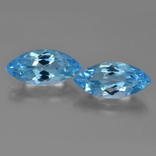 Sky Blue Topaz Gem - 3.7ct Marquise Facet (ID: 454938)