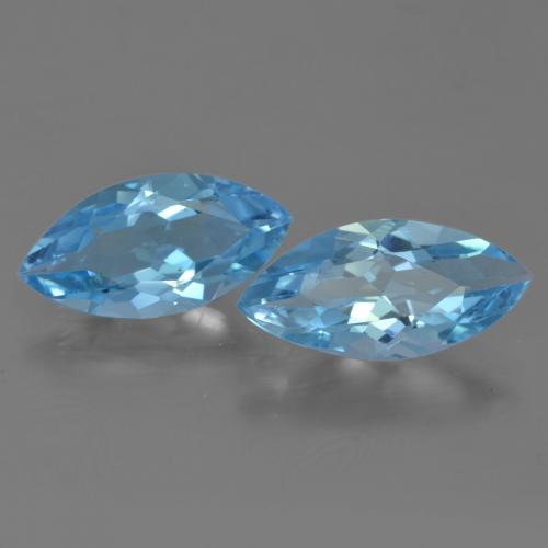Swiss Blue Topaz Gem - 3.2ct Marquise Facet (ID: 454939)