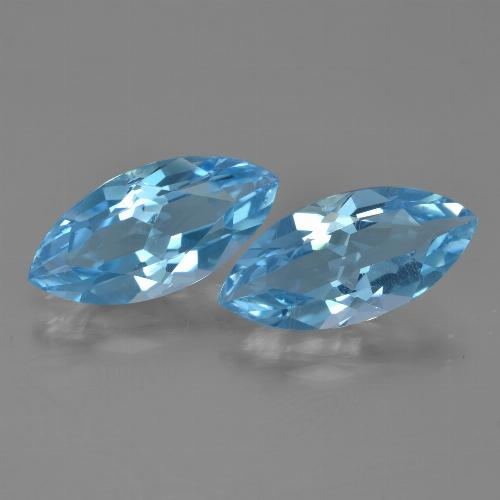Sky Blue Topaz Gem - 3.5ct Marquise Facet (ID: 454941)