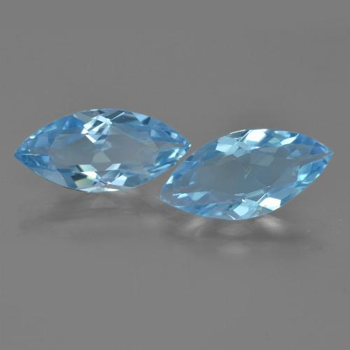 Sky Blue Topaz Gem - 3.2ct Marquise Facet (ID: 454942)