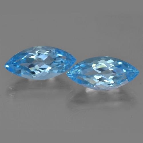 Sky Blue Topaz Gem - 3.8ct Marquise Facet (ID: 454943)