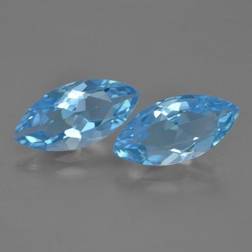 Baby Blue Topaz Gem - 3.5ct Marquise Facet (ID: 454944)