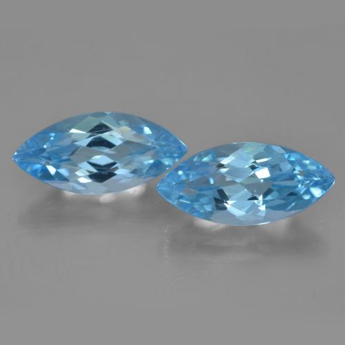 Swiss Blue Topaz Gem - 3.7ct Marquise Facet (ID: 454945)