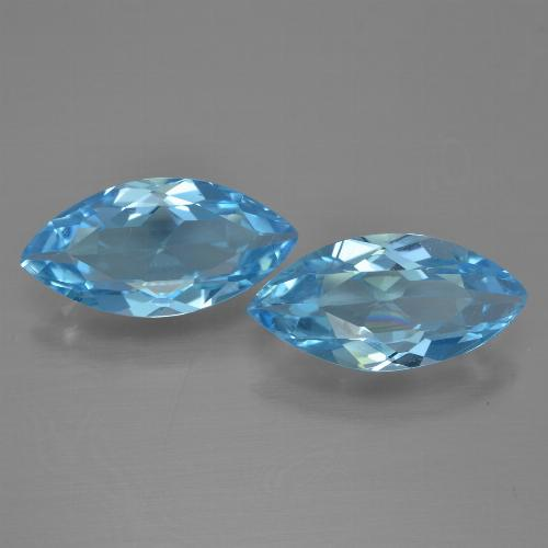 Medium Blue Topaz Gem - 3.1ct Marquise Facet (ID: 454946)