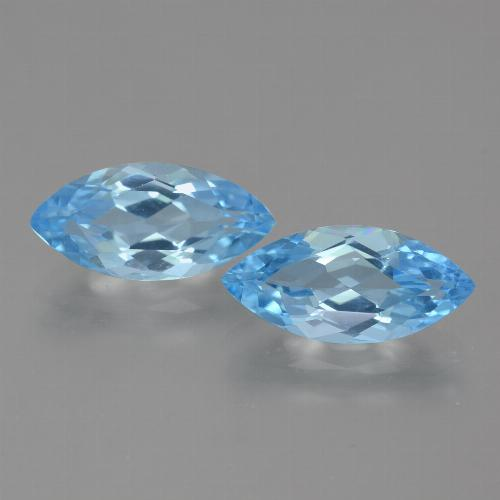 Light Blue Topaz Gem - 3.6ct Marquise Facet (ID: 454959)