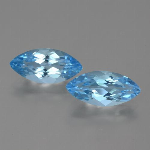 Sky Blue Topaz Gem - 3.6ct Marquise Facet (ID: 454962)