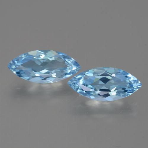 Sky Blue Topaz Gem - 3.2ct Marquise Facet (ID: 454965)