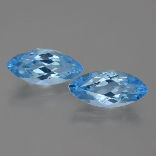 Sky Blue Topaz Gem - 4ct Marquise Facet (ID: 454966)