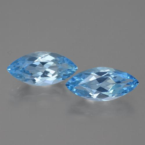 Sky Blue Topaz Gem - 3.8ct Marquise Facet (ID: 454967)