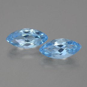Baby Blue Topaz Gem - 3.7ct Marquise Facet (ID: 454968)
