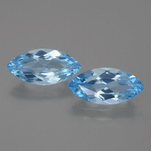 Medium Blue Topaz Gem - 3.7ct Marquise Facet (ID: 454969)