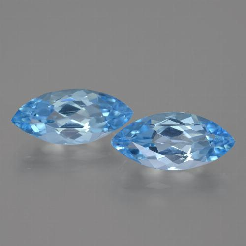 Sky Blue Topaz Gem - 3.6ct Marquise Facet (ID: 454970)