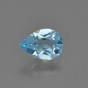 Sky Blue Topaz Gem - 0.8ct Pear Facet (ID: 454974)