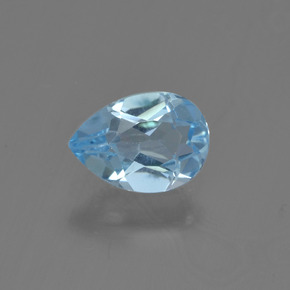 Sky Blue Topaz Gem - 0.8ct Pear Facet (ID: 454977)