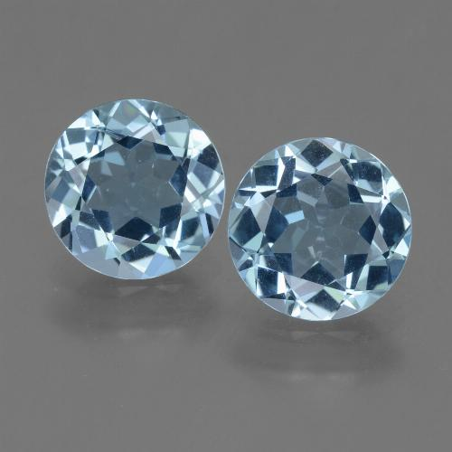 Sky Blue Topaz Gem - 2.1ct Round Facet (ID: 454995)