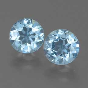 Sky Blue Topaz Gem - 2.4ct Round Facet (ID: 454999)