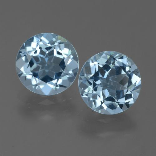 Sky Blue Topaz Gem - 2.2ct Round Facet (ID: 455001)
