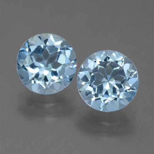 Baby Blue Topacio Gema - 2.4ct Faceta Redonda (ID: 455005)