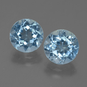 Sky Blue Topaz Gem - 2.4ct Round Facet (ID: 455006)