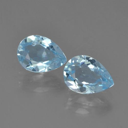 Sky Blue Topaz Gem - 1ct Pear Facet (ID: 455019)