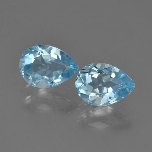 Sky Blue Topaz Gem - 0.9ct Pear Facet (ID: 455020)