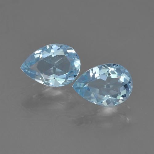 Baby Blue Topaz Gem - 0.9ct Pear Facet (ID: 455022)