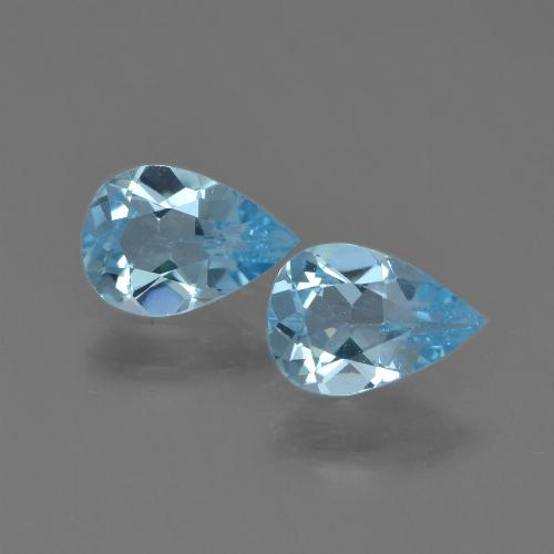 Sky Blue Topaz Gem - 0.7ct Pear Facet (ID: 455024)