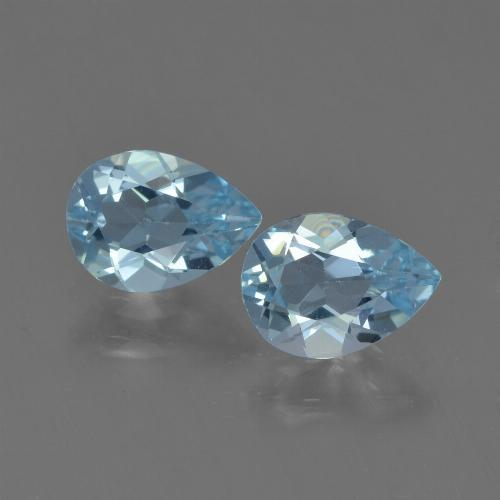 Sky Blue Topaz Gem - 0.8ct Pear Facet (ID: 455030)