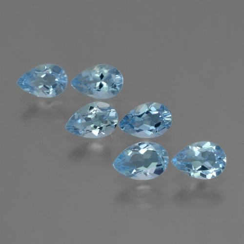Sky Blue Topaz Gem - 0.5ct Pear Facet (ID: 455032)