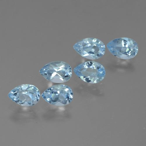Sky Blue Topaz Gem - 0.6ct Pear Facet (ID: 455042)