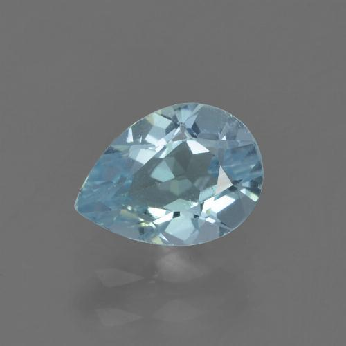 Sky Blue Topaz Gem - 0.9ct Pear Facet (ID: 455059)