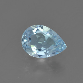 thumb image of 0.8ct Pear Facet Sky Blue Topaz (ID: 455061)