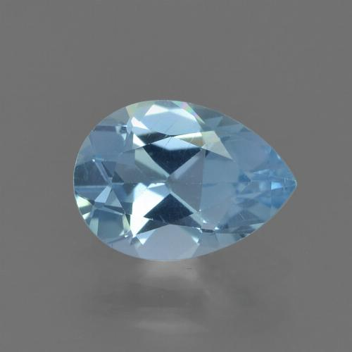 Sky Blue Topaz Gem - 0.8ct Pear Facet (ID: 455065)