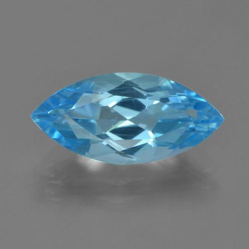 Swiss Blue Topaz Gem - 3.9ct Marquise Facet (ID: 455070)