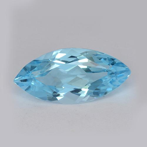 Swiss Blue Topaz Gem - 3.5ct Marquise Facet (ID: 455072)