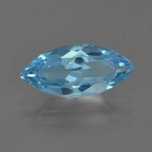 Sky Blue Topaz Gem - 3.3ct Marquise Facet (ID: 455077)