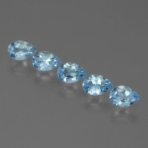 Sky Blue Topaz Gem - 0.5ct Pear Facet (ID: 455103)