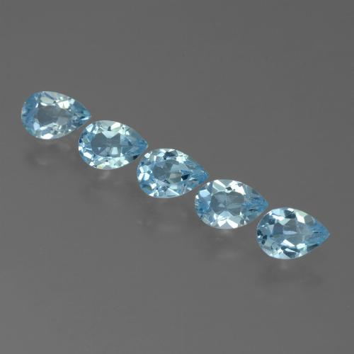 Sky Blue Topaz Gem - 0.5ct Pear Facet (ID: 455105)