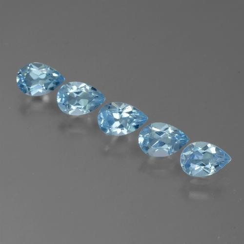 Sky Blue Topaz Gem - 0.5ct Pear Facet (ID: 455107)